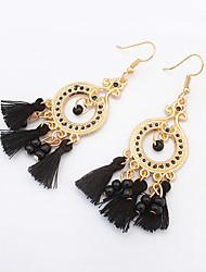 Earring Drop Earrings Jewelry Women Tassels / Bohemia Style Party / Daily / Casual 1 pair Light Green / Black / White