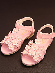 Girl's Sandals Spring Comfort Leatherette Outdoor Green Pink White