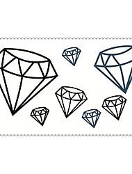 moda diamantes tatuajes temporales de arte corporal atractiva pegatinas impermeable tatuaje 5pcs (tamaño: 2.36 '' de 4.13 '')