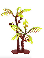 Micro Landscape  Sand Table Model Tree Ornaments Simulation Plants Fleshy Gardening Coco (1) 100Pcs