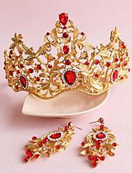 Women's Rhinestone / Alloy Headpiece-Wedding / Special Occasion / Outdoor Tiaras 2 Pieces