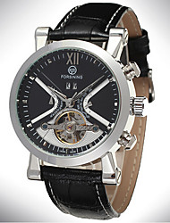 FORSINING Fully Automatic Mechanical Watches Leather Belt Men's Casual Fashion Calendar Flywheel Mechanical Watches