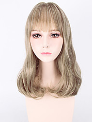 Capless Middle Blonde Color High Quality Wave Synthetic Wigs
