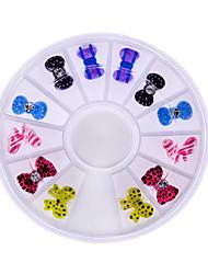 les femmes de la mode belle arc strass nail art décoration pour téléphone portable outils à ongles diy gel uv