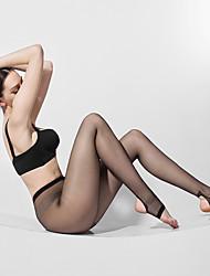 BONAS® Women Solid Color Thin Legging Charm Fashion Sense Silk T Crotch Pantyhose Step on the Foot