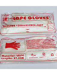 Pe Film Disposable Gloves Thickened Food Restaurant Ldpe Pe Plastic Medical Gloves