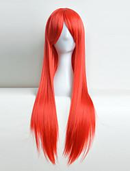 peluca cosplay del anime de color Europa y los Estados Unidos de cabeza caliente pelo rojo 80 cm