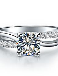 Ringe Modisch Hochzeit Schmuck Sterling Silber / Platiert Damen Bandringe 1 Stück,5 / 6 / 7 / 8 / 9 / 8½ / 9½ / 4