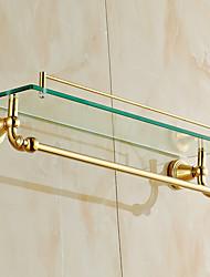 Полка для ванной / Полированная латунь / Крепление на стену /60*15*15 /Медь /Античный /60 15 1.798