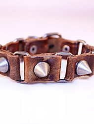 Rivet Classical Vintage Mens Leather Braclet Fashion Jewelry For Men Punk Rock
