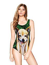 FuLang swim One-Piece Suits   Paige  Thin   sexy backless   fashion  Lovely puppy printing  SC099