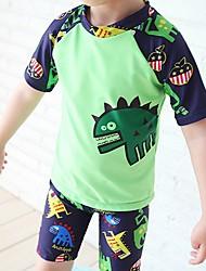 Boy's Beach Print Swimwear,Nylon Summer Blue / Green