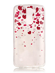 TPU + IMD Material Love Pattern Slim Phone Case for  LG K8/K7/K4/G5