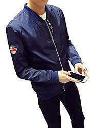 The fall of new men's jacket size pure sports jackets and Korean youth thin tide
