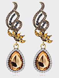 Fashion Angel Wings Champagne Crystal tTeardrop-shaped Earrings