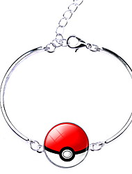 Unisex Pocket Monster Poke Ball Cartoon Pattern Alloy Bracelet
