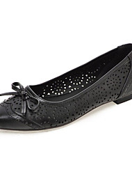 Women's Shoes Leatherette Spring / Summer / Fall Comfort Flats Dress / Casual Flat Heel Others Black / White / Almond