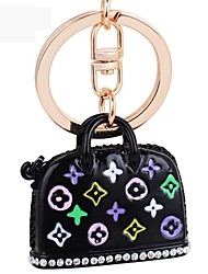 Fashion Enamel Handbag Metal Key Ring Pendant Ornaments Keychain Key Holder