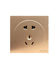 3D Bright Gold a Double Control Wall Switch Champagne Open Wire