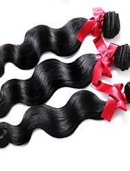 Tissages de cheveux humains Cheveux Malaisiens Ondulation naturelle 3 Pièces tissages de cheveux