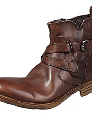 Men's Shoes Nappa Leather Party & Evening / Casual Boots Party & Evening / Casual Snow Boots Flat Heel Brown