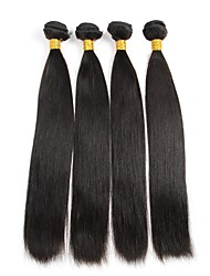 "4 Pcs/Lot 8""-30"" Unprocessed Peruvian Virgin Hair Straight Remy Human Hair Weaves Thick&Soft 400g"