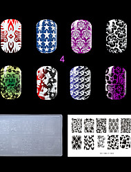 1PC Plastic Clear White Lovely Nail Stamping Template  (KD-SM612-004)