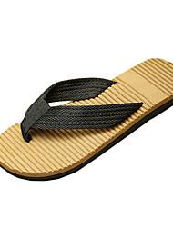 Sapatos Masculinos-Chinelos e flip-flops-Preto / Azul / Marrom / Cinza-Lona-Casual