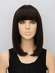 New Arrivals Fashion Short Wigs for Women Handmade 37cm Dark Brown Wig Cosplay Short Synthetic Wigs