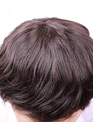 """vivy 6 """"8"""" * 10 """"Männer Toupet volle Spitze-Menschenhaarperücken Menschen mittlerer Länge Frisuren für feines Haar Männer Haar Toupet"""
