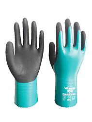 Pergunto Grip® wg-528 látex resistente ao desgaste ce antiderrapante resistente hardware de vidro de óleo luvas de manipulação mecânica