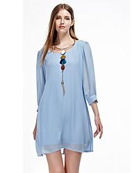 Heart Soul® Women's Round Neck 3/4 Length Sleeve Knee-length Dress-11AA10104R