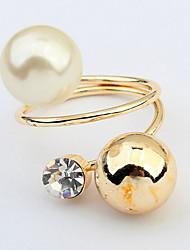 Ringe Damen / Paar / Unisex Künstliche Perle / Strass Legierung Legierung Verstellbar / 6 GoldFarbe & Stil Darstellung variiert je nach