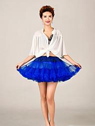 Anáguas Slip de Baile Longuete 2 Rede Tule Acrílico Azul