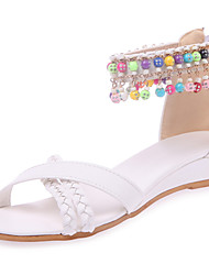 Women's Shoes Wedge Heel Open Toe Ankle Strap Bead Zip Bohemia Sandal More Color Available