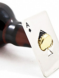 New Stylish Hot Sale 1pc Poker Playing Card Ace of Spades Bar Tool Soda Beer Bottle Cap Opener Gift