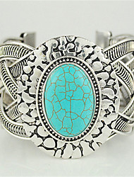 Europe and retro turquoise exaggerated wide bracelet