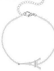 Kimiing Gold/Silver Eiffel Tower Shape Chain Bracelet Jewelry