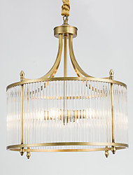 Chandelier ,  Country Brass Feature for Designers Metal Living Room Bedroom Dining Room Study Room/Office 3 Bulbs