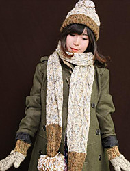 Women Knitwear Scarf,Casual RectangleSolid