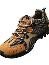 Femme-Extérieure / Sport-Marron / Jaune / Gris-Talon Plat-Confort / Baby / Bout Fermé-Sneakers / Ballerines-Gomme / Tulle