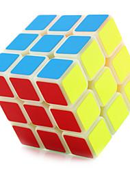 Yongjun® Cube velocidade lisa 3*3*3 profissional Nível Cubos Mágicos Preta / Branco ABS
