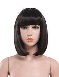 Capless Black Color High Quality Natural Straight Synthetic Wig