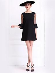 Pour My Fair Lady® Femme Bateau Manches 1/2 Au dessus des genoux Robes-1502999
