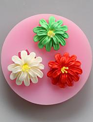 три цветка шоколада силиконовые пресс-формы, формы торта, мыло прессформы, отделочные инструменты Формы для выпечки