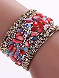 Fine Bracelet With Natural Crystal Stone Bracelet, Alloy Magnetic Clasp
