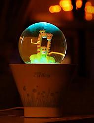 (2pcs случайный рисунок) счастливым комнатным USB красочный свет ночи