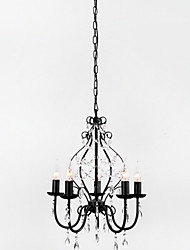 MAX:60W Chandelier ,  Country Painting Feature for Crystal Metal Dining Room / Study Room/Office / Entry