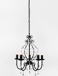Lámparas Araña ,  Campestre Pintura Característica for Cristal Metal Comedor Habitación de estudio/Oficina Vestíbulo