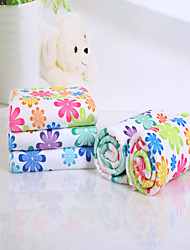 "1 Piece Microfiber Bath Towel 55"" by 28"" Floral Pattern Super Soft"